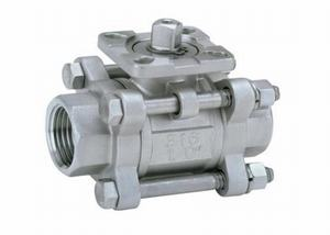STAINLESS-STEEL-3-PIECE-MOUNTED-PAD-BALL-VALVE