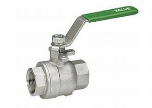 SCREWED STAINLESS STEEL 2 PIECE BALL VALVE