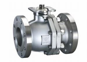 STAINLESS STEEL 2 PIECE FLANGED BALL VALVE